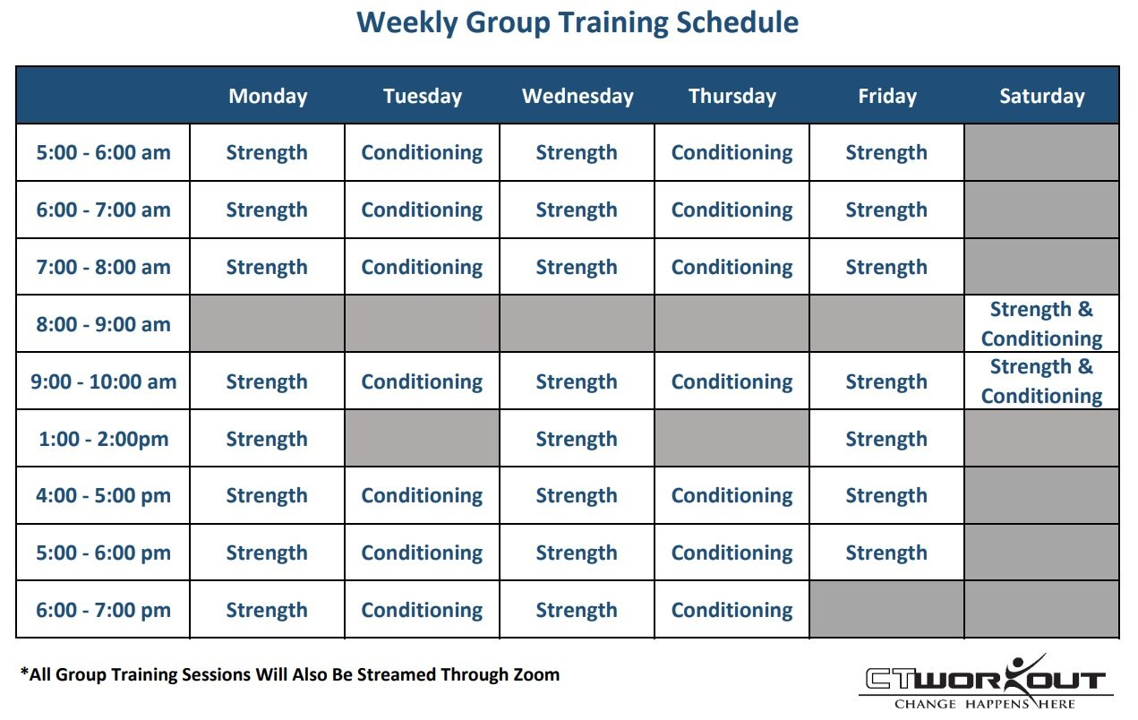 group training schedule